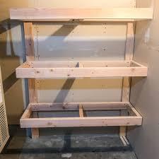 diy garage shelves frame ed to wall
