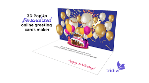 Free Birthday Card Maker Free 3d Pop Up Online Greeting Card Maker Tridivi