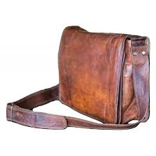 genuine vintage leather messenger briefcase