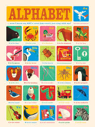 Alphabet Chart With Pictures Alphabet Chart Poster Decals