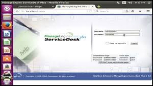 installation manageengine servicedesk ubuntu16 04 login the main page of servicedesk appears installation manageengine servicedesk ubuntu16 04 main page
