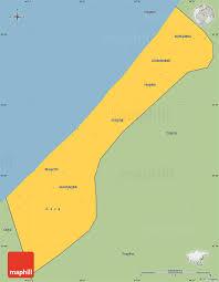 savanna style simple map of gaza strip