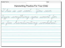 Handwriting Practice Cursive Writing Sentences Worksheets For All