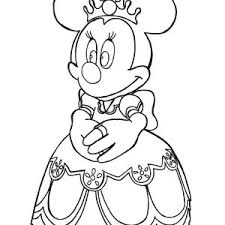 Coloring Pages Minnie Mouse Princess My Localdea