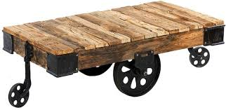 custom reion industrial factory cart coffee table by antique