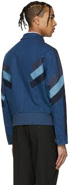 neil barrett indigo denim modernist jacket men neil barrett hoo neil barrett neoprene sweatshirt