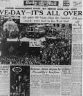 Image result for ve day newspaper