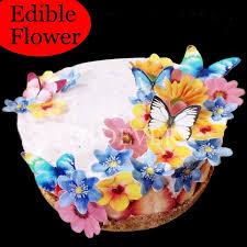 35pcs 3d Edible Flower Cake Decoration Wedding Birthday Party Baby