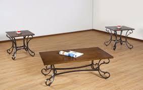 fleurette coffee table set brown