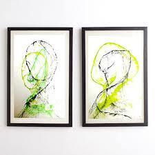 saatchi art artist poovi art gallery painting minimalism art set of 2  on set of 2 framed wall art with saatchi art minimalism art set of 2 art original abstract art