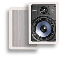 speakers pair. polk audio rc65i 2-way in-wall speakers (pair, white) pair )