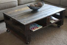 Coffee Table  Marvelous Pallet Coffee Table On Wheels Tables Made Pallet Coffee Table On Wheels