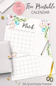 2017 printable wall, desktop or binder calendars organizing Home Planner Calendar 2015 free printable planner 2017 march calendar with beautiful watercolor floral design 2015 organised mum home planner calendar