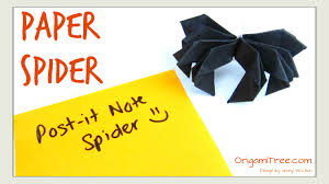 crafts paper spider post it r note crafts spider origami paper crafts kids you