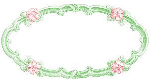 vintage frame design oval. Vintage Clip Art \u2013 Delicate Oval Frame Design
