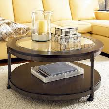 ... Breathtaking Round Glass Coffee Table On Wheels Design: Uniquely Round Glass  Coffee Table ...