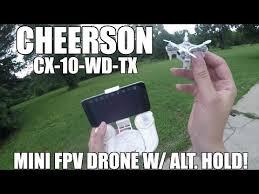 Радиоуправляемый <b>квадрокоптер Cheerson CX</b>-<b>10WD</b>+<b>TX</b> RTF ...