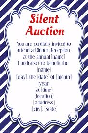 What Is Silent Auction Silent Auction Invitation Flyer Template Small Business Postermywall