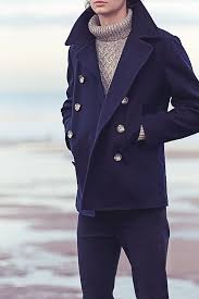 journal standard navy wool melton pea coat