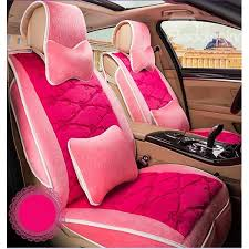 comfortable fl patterned plush car seat cover set