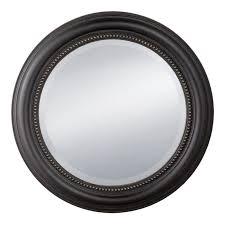 prinz distressed black round beaded profile mirror 20 inch