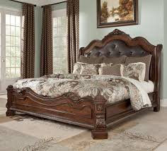 king size head board bedroom transitional bedroom using black leather tufted king size