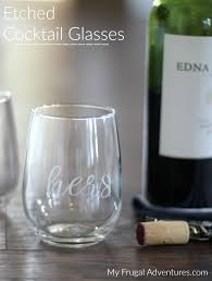 diy etched wine and champagne glasses perfect gift idea