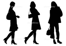女性シルエット イラスト素材 500753 無料 フォトライブラリー