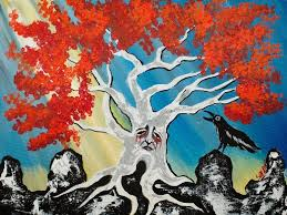 16 easy acrylic paintings you can do with cotton swabs game of thrones weirwood tree