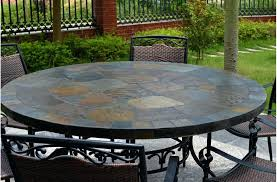 tile dining table round top slate outdoor stone patio sets tile dining table classic top makeover