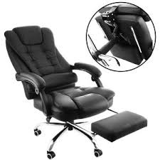 office recliner chair. Orange A High Back Reclining Office Chair Ergonomic PU Leather Executive 360 Degree Recliner