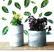 how to make cement planters concrete planter pots large flower weekend project cloth diy full size