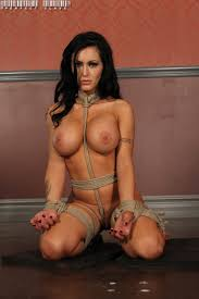 Babe Jenna Presley with Black Hair Wearing Thong Playing With.