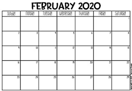 Freebie 2019 2020 Calendar And Monthly Planner