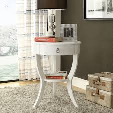 amazing home sophisticated white round nightstand in bedside table with drawer amazing side white round