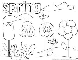 Spring Coloring Sheets Free Pages Printable Pdf For Adults Cremzempme