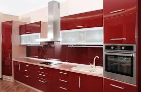Dark Red Kitchen Cabinets