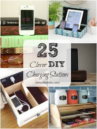 Charging Station Shelf Remodelaholic Get Rid Of Cord Clutter With These 25 Diy Charging