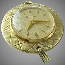 vintage gold filled woman s bulova pendant watch king davids treasures ruby lane