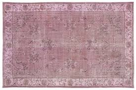 vintage turkish pink overdyed rug 1