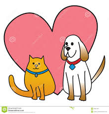 cats and dogs in love drawing. Exellent Cats Dog And Cat With Heart Throughout Cats And Dogs In Love Drawing