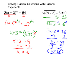 4 solving radical equations with rational exponents 2 x 3 3 2 54 3x 3 6 0
