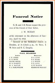 Funeral Notice Template 24 funeral notice examples Notice Letter 1