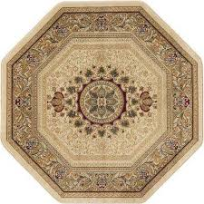 traditional octagon area rug