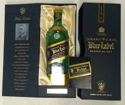 johnny walker blue label scotch whisky collectors box and empty bottle 1 of 5 see more