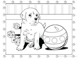 puppy printable coloring pages dog