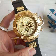 Big Face Designer Watches Wholesale Big Dial 51mm Mens Luxury Watch Invic All Dial Work Quartz Movement Gold Face Male Gift Clocl Sport Wristwatch Designers Watches Wristwatch