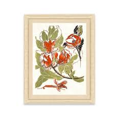 >buy floral frames from bed bath beyond framed giclee stylized red flower print wall art ii