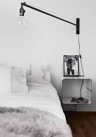 bedroom swing arm wall sconces. Swing Arm Wall Lamp Installed In The Bedroom With White Walls : Amazing Sconces Wearefound Home Design
