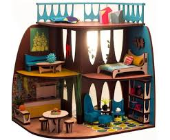 mid century modern dollhouse furniture. The ARC Flatpack Dollhouse Is Designed In Mid-Century Modern Style Mid Century Furniture D
